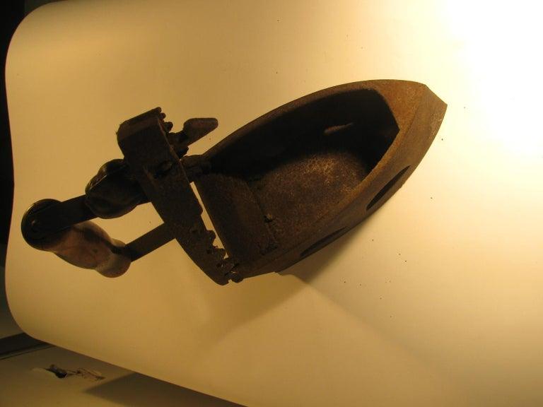 Late 19th Century 19th Century Italian Cast Iron Coal Powered Iron For Sale