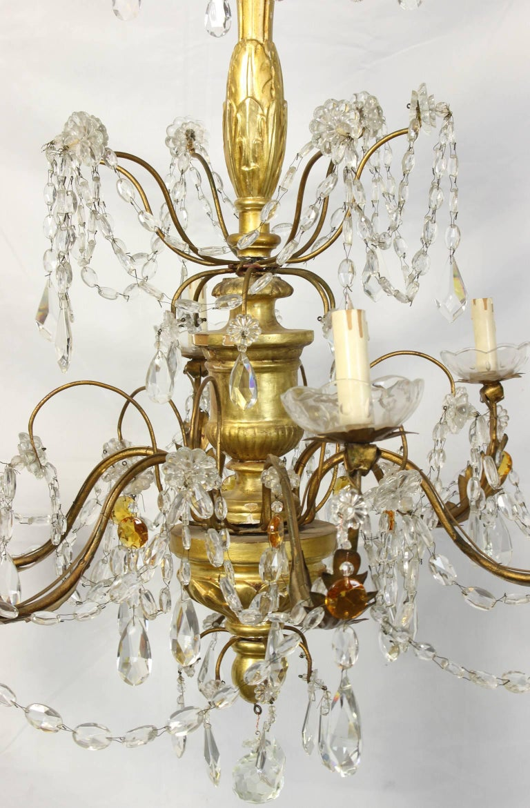 19th Century Italian Chandelier In Good Condition For Sale In Kilmarnock, VA