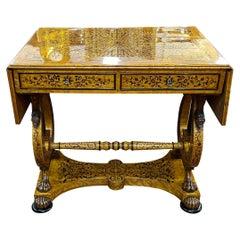 19th Century Italian Charles X Birdseye Maple Inlaid Sofa Table, 1820
