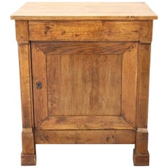 19th Century Italian Chestnut Wood Small Rustic Sideboard, Buffet or Credenza