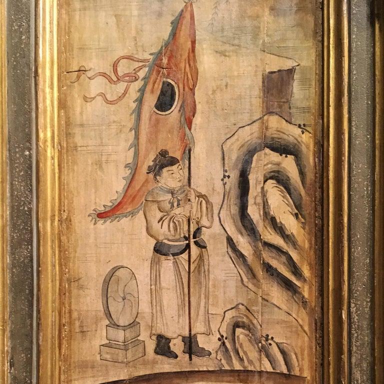 19th Century, Italian Chinoiserie Painted Napoleon III Wardrobe For Sale 8