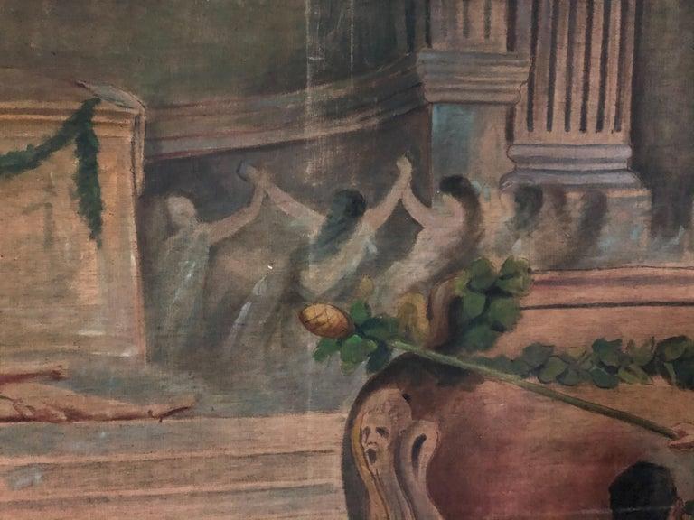 19th Century Italian Classical Roman Arras Herb Juice For Sale 8