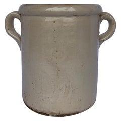 19th Century Italian Cream Jar With Handles
