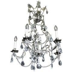 19th Century Italian Cristal Five-Light Chandelier