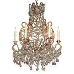 19th Century Italian Crystal Chandelier