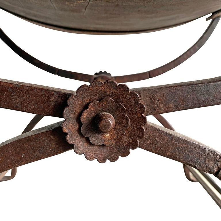 19th Century Italian Curule Stool For Sale 6