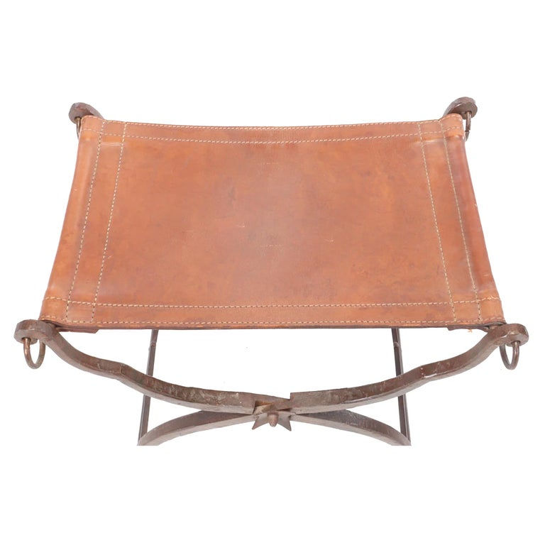 19th Century Italian Curule Stool In Good Condition For Sale In Chicago, IL
