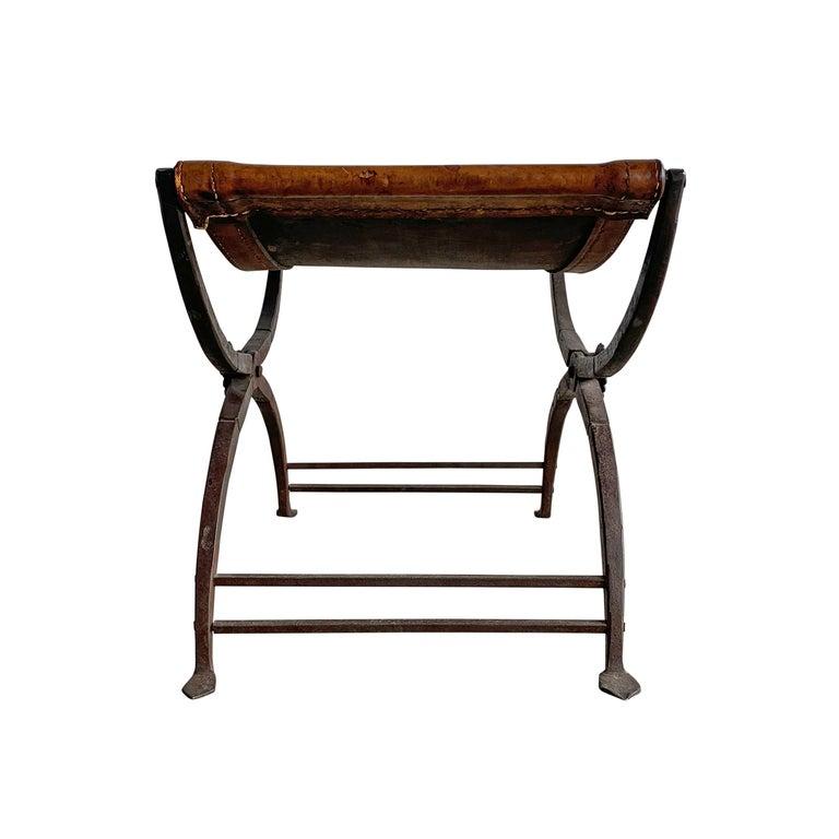 19th Century Italian Curule Stool For Sale 2