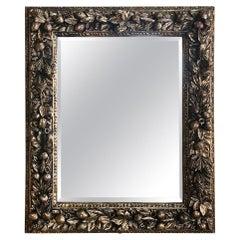 19th Century Italian Della Robia Giltwood Mirror