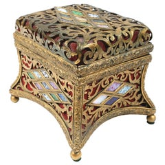 19th Century Italian Dore Bronze Jewel Box