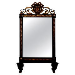 19th Century Italian Ebonized and Giltwood Mirror