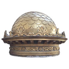 19th Century Italian Ecclesiastic Wooden Ornamental Dome, 1890s