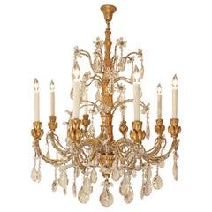 19th Century Italian Eight Light Chandelier