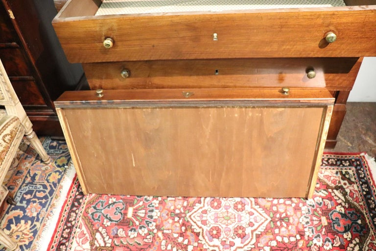 Early 19th Century 19th Century Italian Empire Walnut Commode or Chest of Drawers For Sale