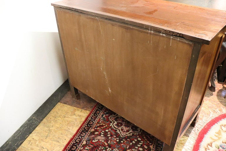 19th Century Italian Empire Walnut Commode or Chest of Drawers For Sale 3