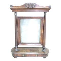 19th Century Italian Empire Walnut Dressing Table Mirror, 1800s