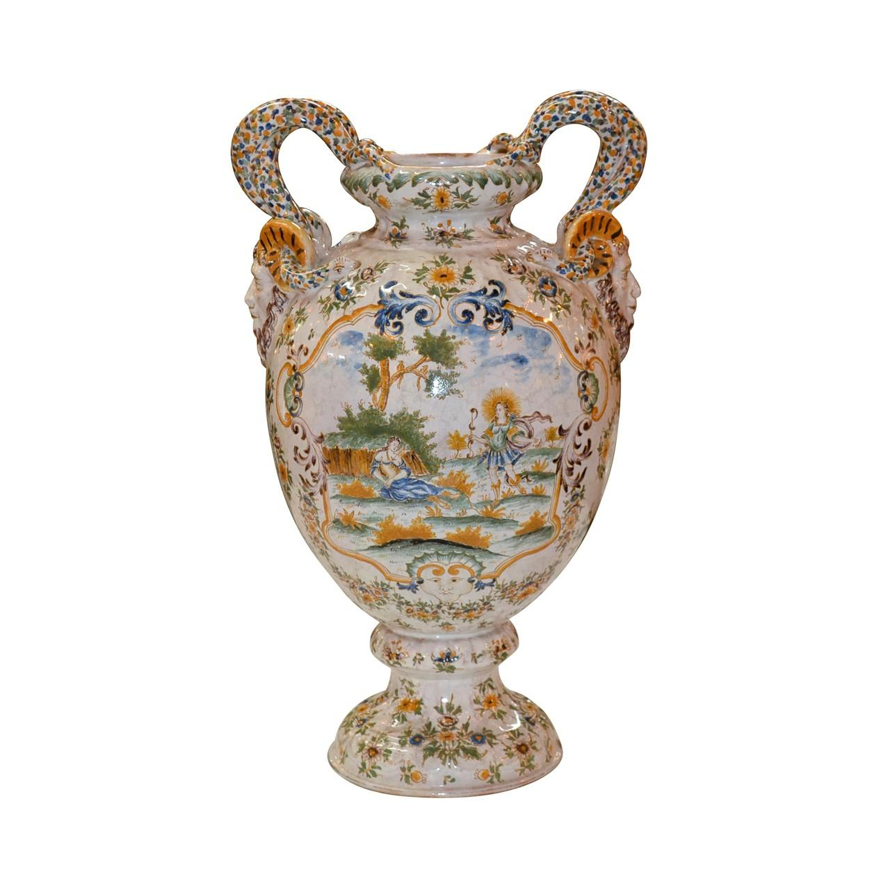 19th Century French Faience Vase