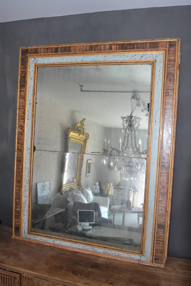 19th century italian faux marble painted framed mirror with original glass for sale at 1stdibs. Black Bedroom Furniture Sets. Home Design Ideas