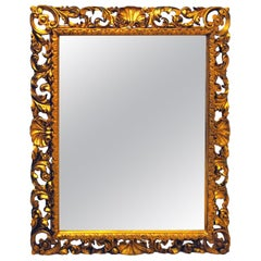 19th Century Italian Florentine Giltwood Wall Mirror