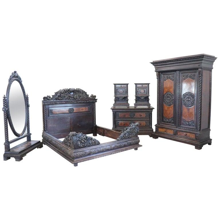 19th century italian florentine renaissance style carved - Renaissance style bedroom furniture ...