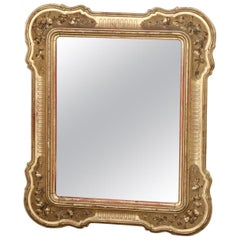 19th Century Italian Gilded Wood Large Wall Mirror