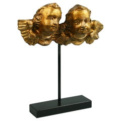 19th Century Italian Gilt Carved Putti on Stand