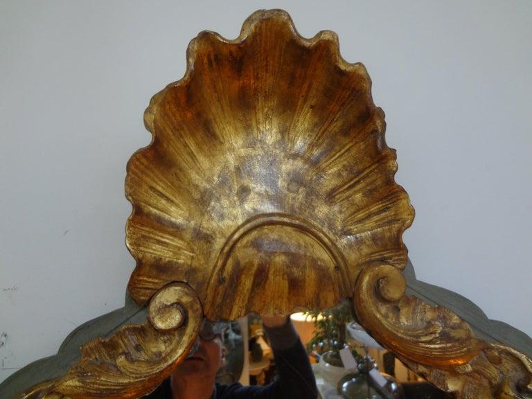 Regency 19th Century Italian Giltwood Mirror For Sale