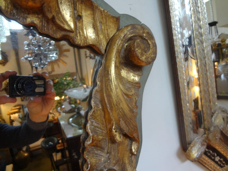 19th Century Italian Giltwood Mirror In Good Condition For Sale In Houston, TX