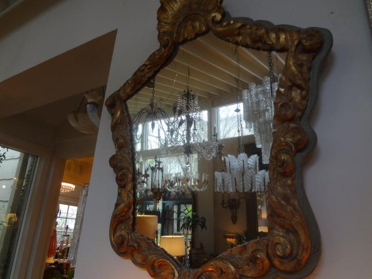 19th Century Italian Giltwood Mirror For Sale 2