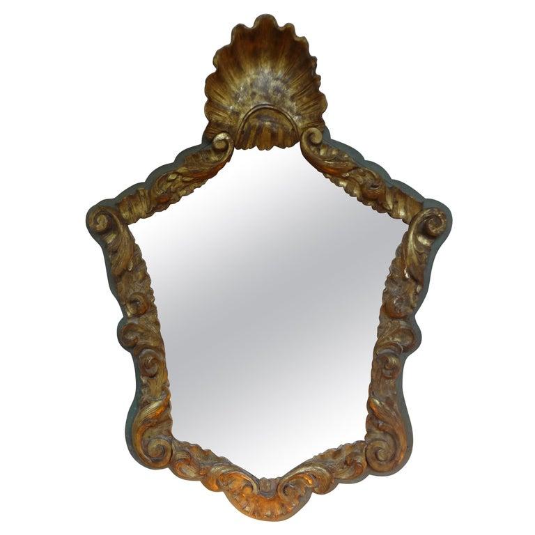 19th Century Italian Giltwood Mirror For Sale