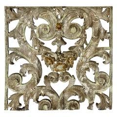 19th Century Italian Giltwood Architectural Fragment