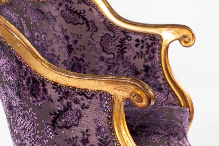 19th Century Italian Giltwood Armchair For Sale 1