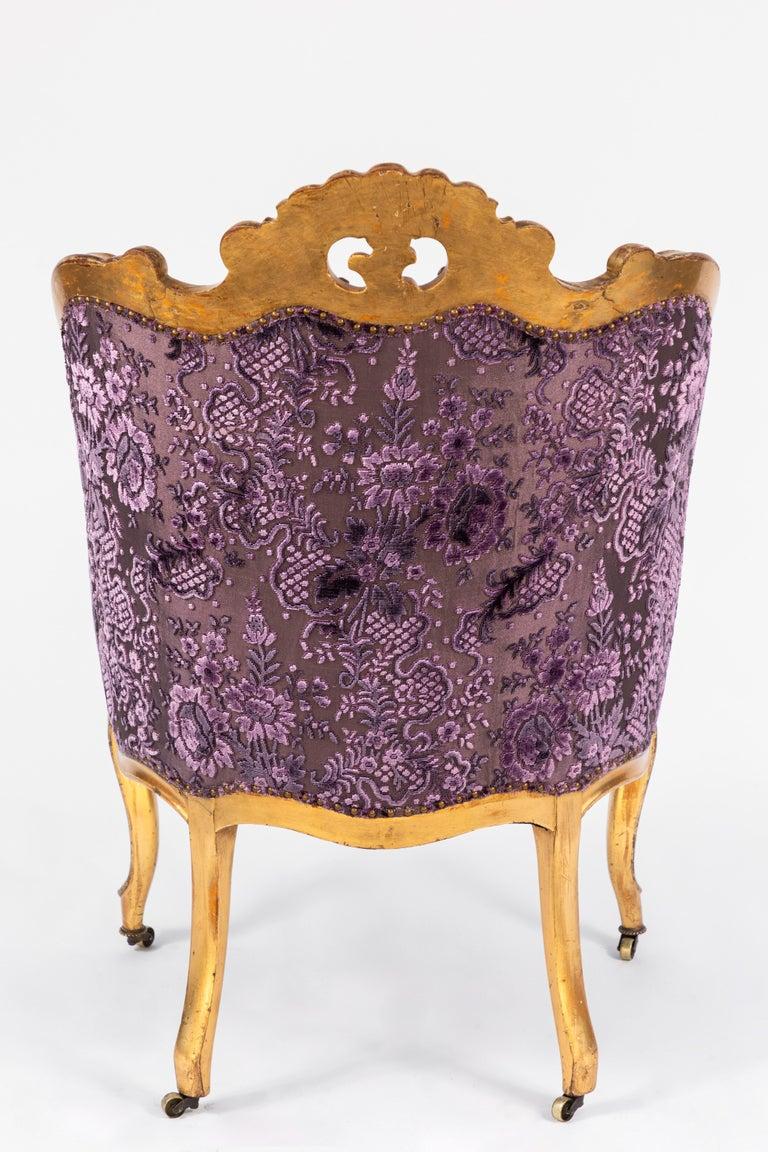 19th Century Italian Giltwood Armchair For Sale 3