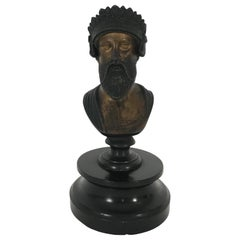 19th Century Italian Grand Tour Bronze Bust of a Roman Senator