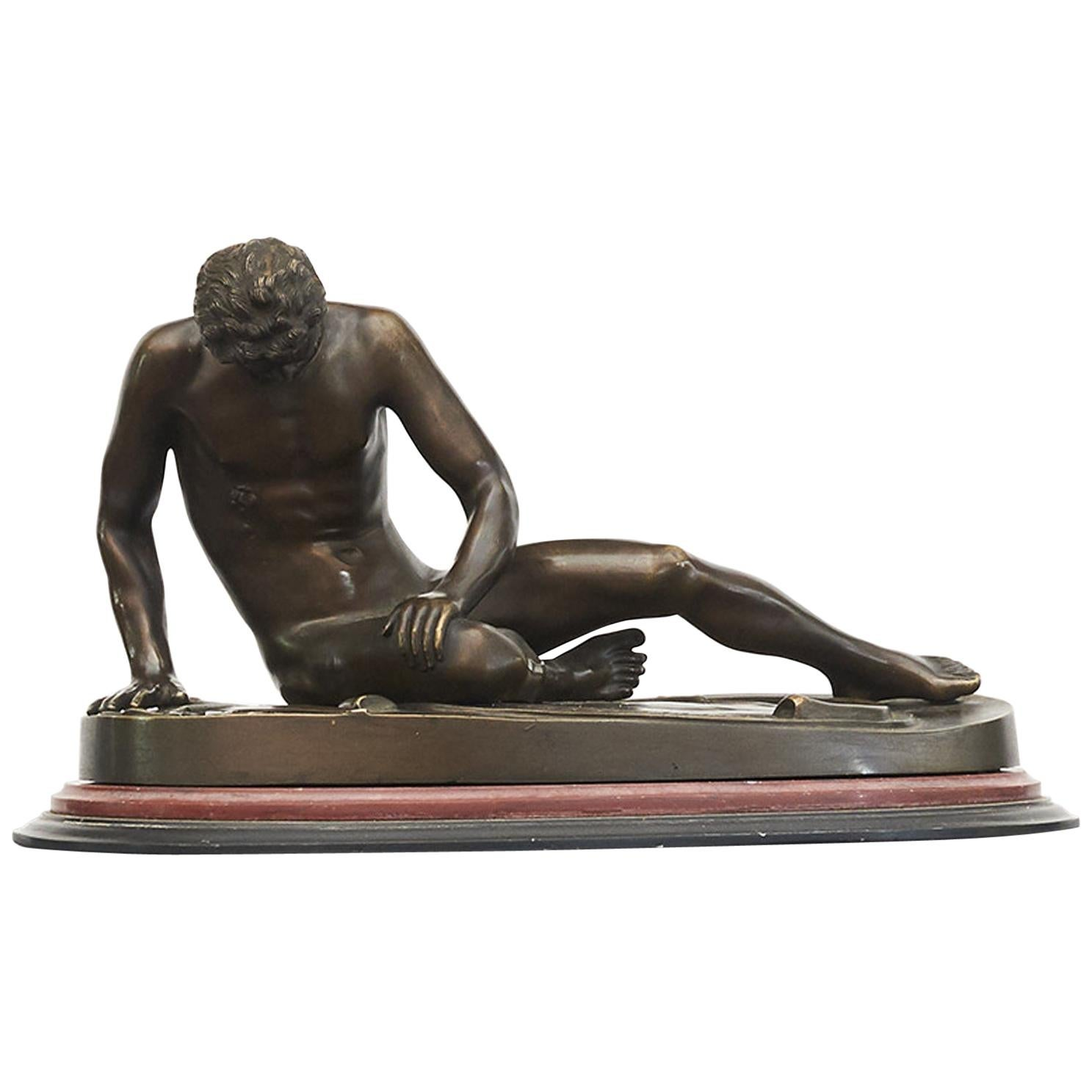 """19th Century Italian Grand Tour' Bronze Sculpture of """"The Dying Gaul"""""""