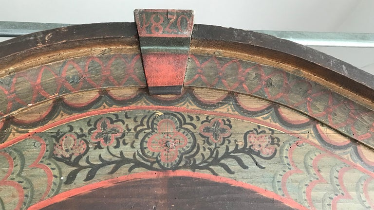 19th Century Italian Hand Painted Side Cabinet / Armoire For Sale 4