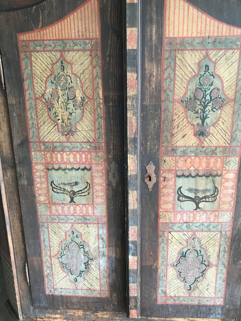 19th Century Italian Hand Painted Side Cabinet / Armoire For Sale 5
