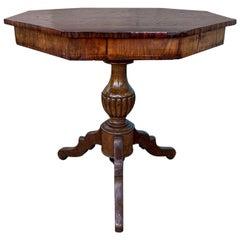 19th Century Italian Inlaid Sorrento Octagonal Tilt-Top Table