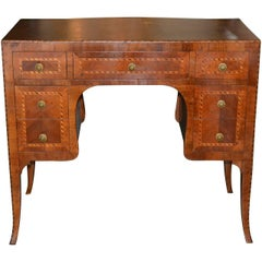 19th Century Italian Inlaid Vanity Table / Desk