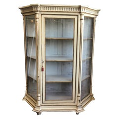 19th Century Italian Lacquered Wood Vitrine with Shelves, 1890s