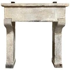 19th Century Italian Limestone Mantel