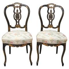 19th Century Italian Louis Philippe Antique Pair of Chairs