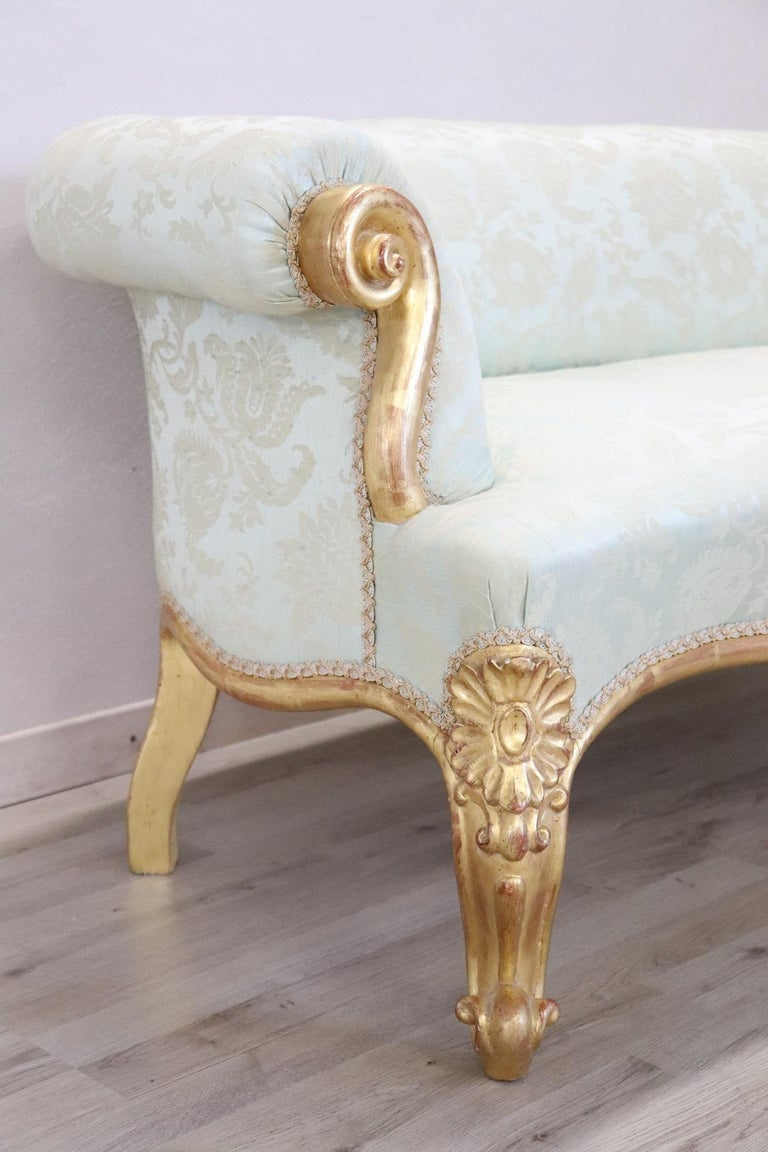 Awesome 19Th Century Italian Louis Philippe Carved And Gilded Walnut Antique Sofa 1850S Machost Co Dining Chair Design Ideas Machostcouk