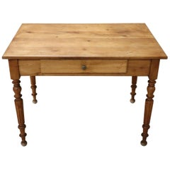 19th Century Italian Louis Philippe Cherry Wood Writing Desk