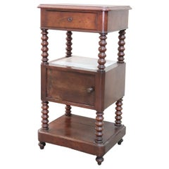 19th Century Italian Louis Philippe Mahogany Nightstand or Bedside Table