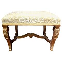 19th Century Italian Louis XIV Style Giltwood Bench