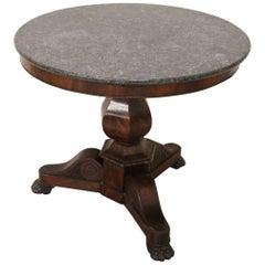 19th Century Italian Mahogany Round Center Table