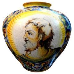 19th Century Italian Maiolica Urn