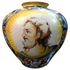 19th Century Italian Majolica Urn