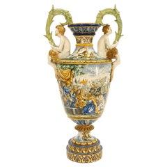 19th Century Italian Mojalica Monumental Urn